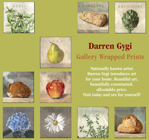 New Darren Gygi Home Decor Prints, now at Lizzabeth A