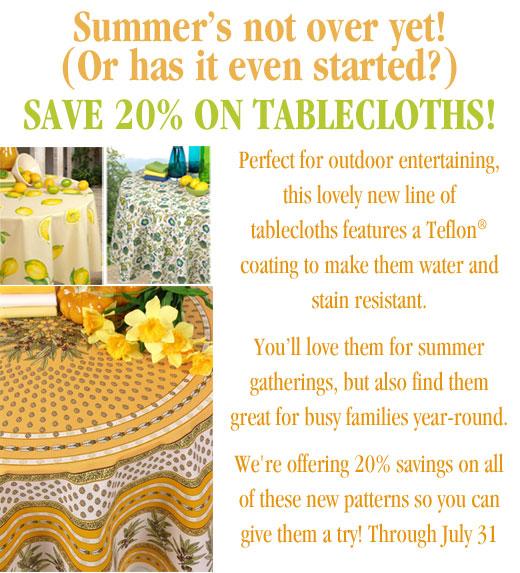 Tablecloths sale