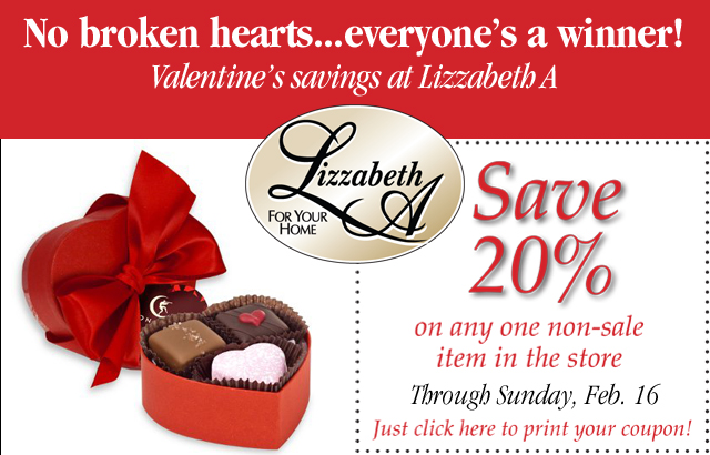 Valentine's Savings from Lizzabeth A