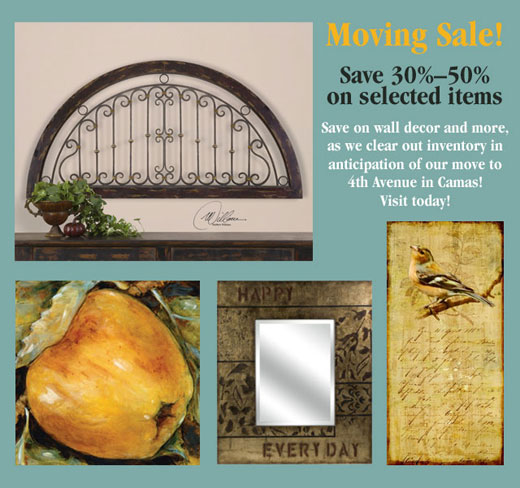 Moving sale! Save 30% to 50%