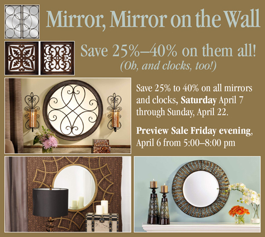 Mirror, Mirror on the Wall Sale!