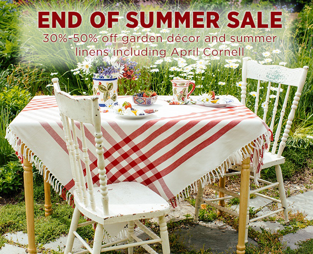 This weekend: End of Summer Sale