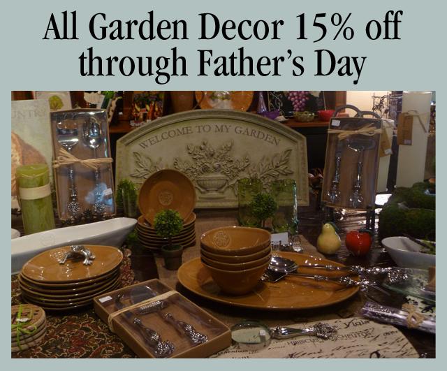 Save 15% on Garden Decor